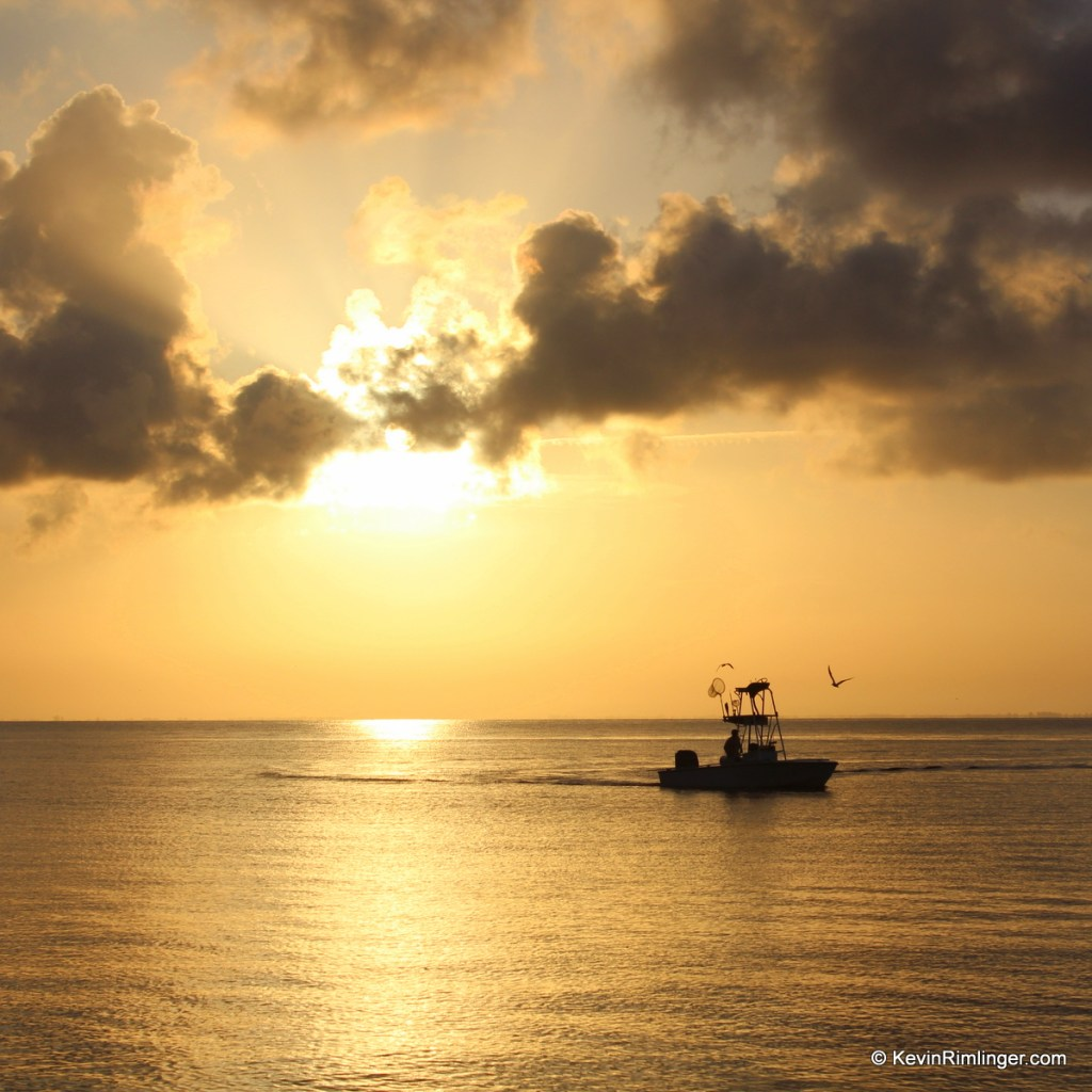 Fishing Boat at Sunrise near Anna Marie Island