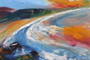 Clifftop 2 - painting of Balleymoney beach