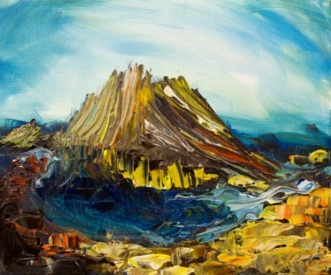 painting of Giant's causeway