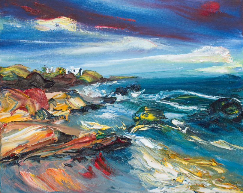 Wexford seascape painting by Irish artist