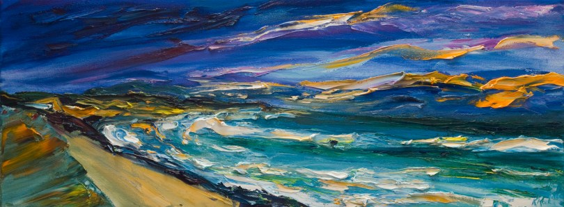 Courtown beach in evening light