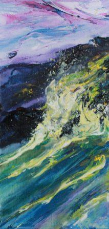 Waves on rocks at ballymoney