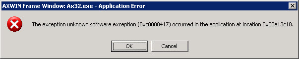 Software error