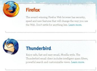 Thunderbird works great with Firefox