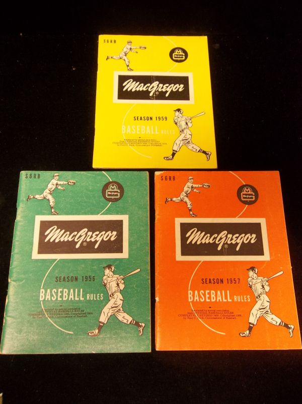 Lot Detail - Macgregor Baseball Rules Booklets- 3 Diff