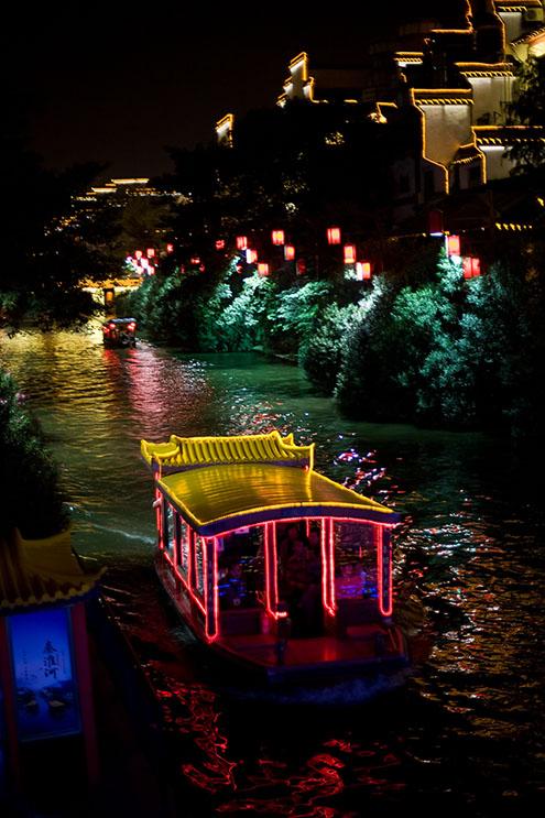 Tacky boats plying a tacky canal.