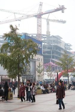 Pedestrian mall in Beijing.