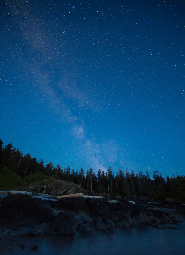 Milky Way over Pacific Rim National Park by Kevin Thom