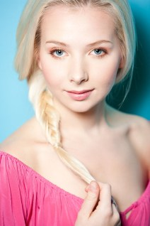 blonde model headshot