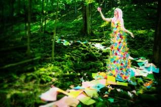 Laura Hollick's Paper Crane Dress