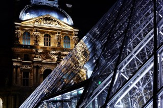 Reflections of The Louvre, Paris, France