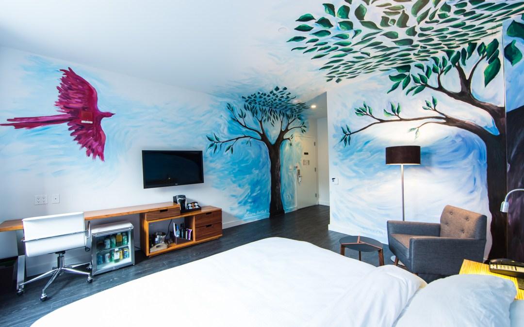 Laura Hollick's NU Hotel mural