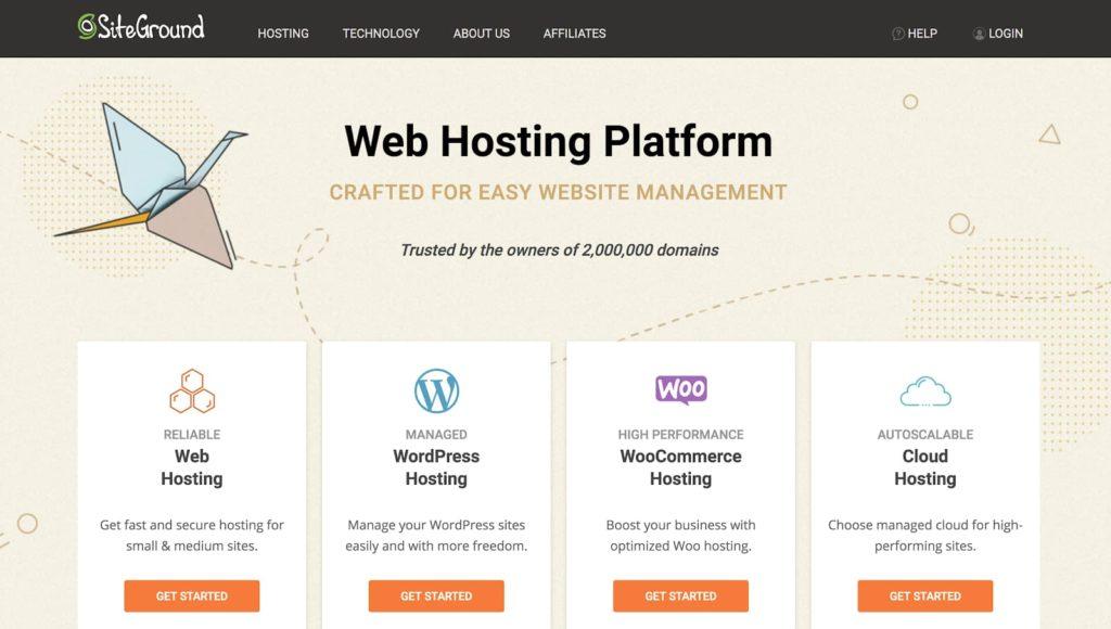 Meilleurs hébergeurs WordPress-SiteGround