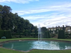 Renishaw Hall and fountain