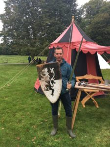 Matt sword shield Little Moreton Hall