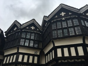 Little Moreton Hall bay windows