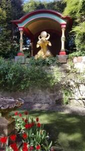 Biddulph Grange golden cow feature