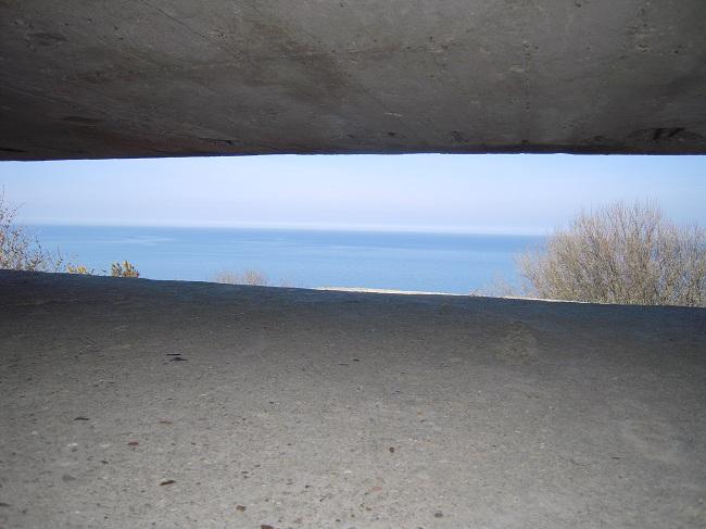 Búnker observación artillería. Batería costera Longeville-sur-Mère