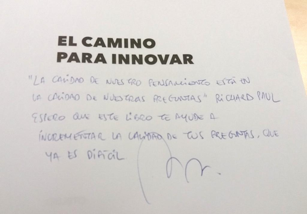 el camino para innovar firmado - libros recomendados sobre startups