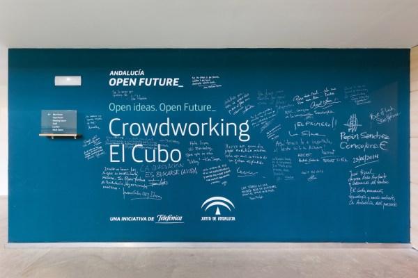 entrada cubo Andalucía Open Future
