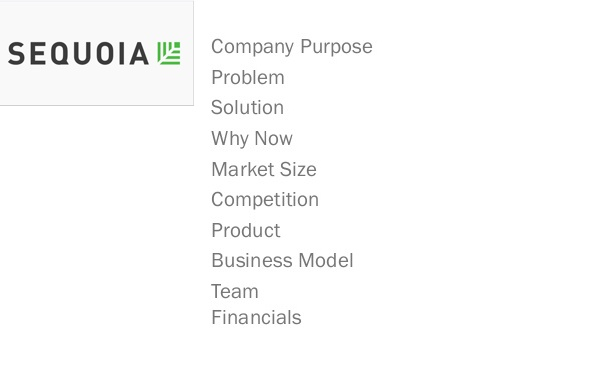 Sequoia Capital Deck - evaluar una startup