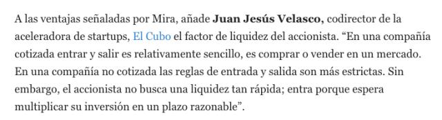 Juan Jesus Velasco en Emprendedores hablando sobre financiación de startups