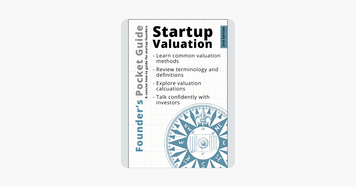Founders Pocket Guide Startup Valuation Libro valoracion de empresas en fase temprana