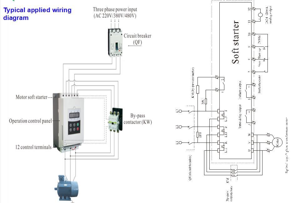single phase soft starter circuit diagram