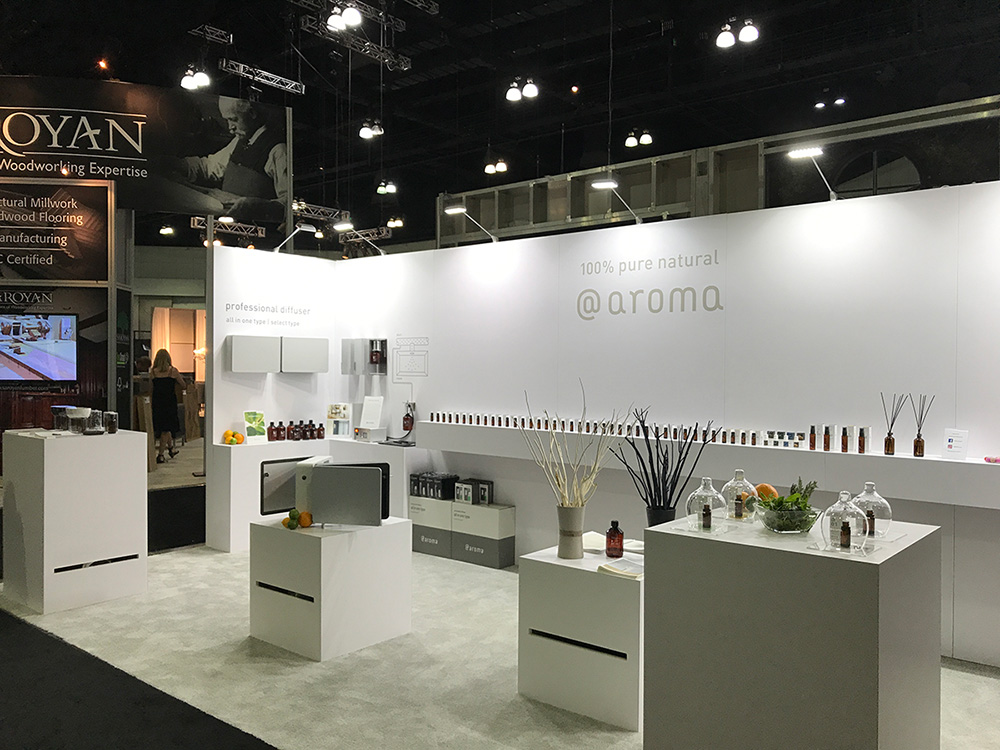 At Aroma Trade Show Booth Design – Key International