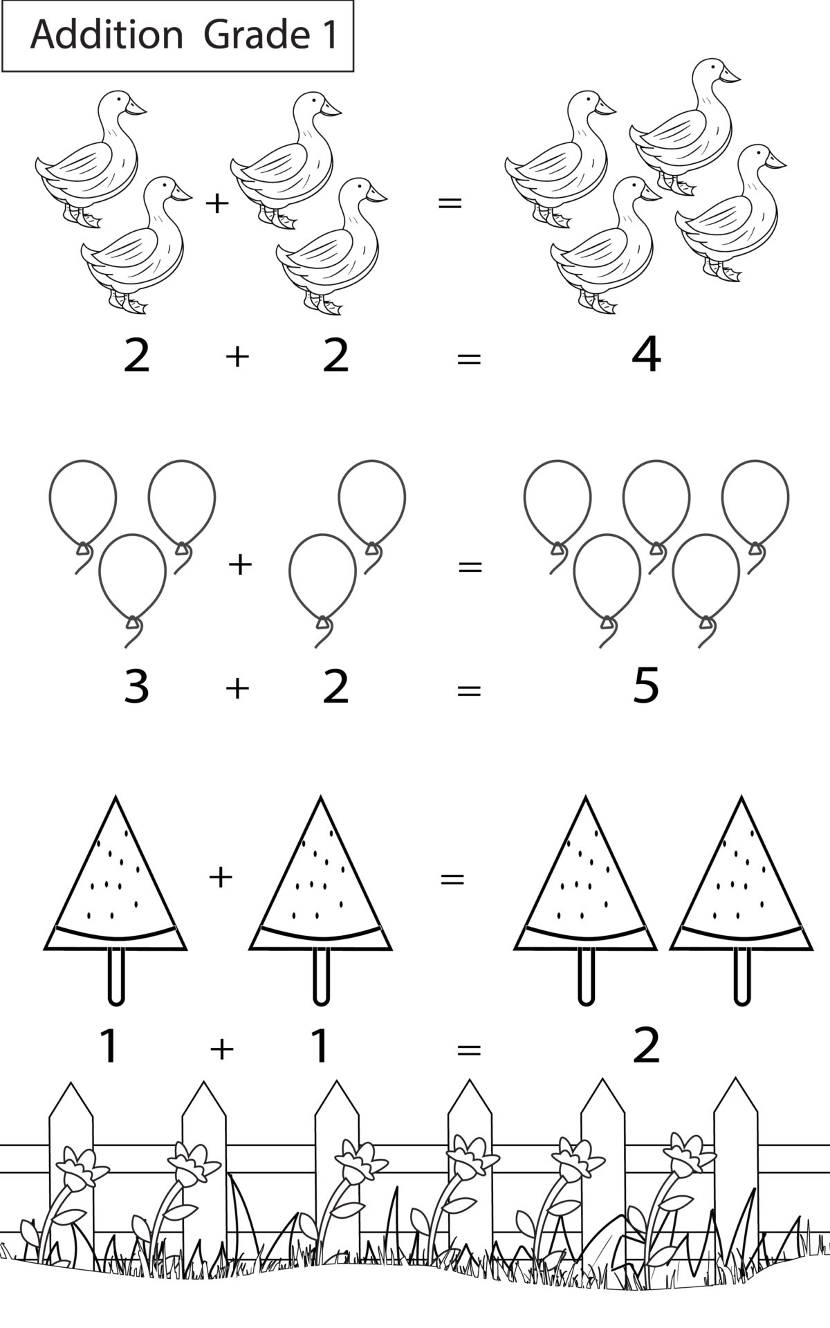 Maths Worksheets Grade 1 Chapter Addition