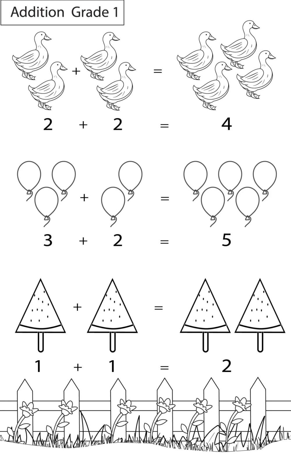 medium resolution of Maths Worksheets Grade 1 Chapter Addition - key2practice Workbooks