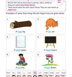 Circle Worksheet Grade 1 Adjectives   Printable Worksheets and Activities  for Teachers [ 2560 x 1810 Pixel ]