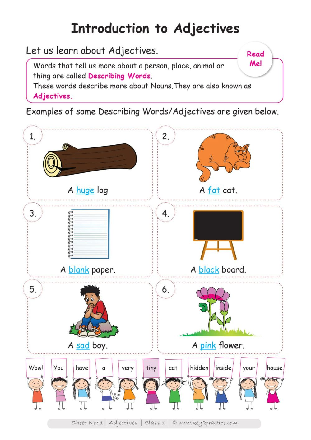 medium resolution of Circle Worksheet Grade 1 Adjectives   Printable Worksheets and Activities  for Teachers