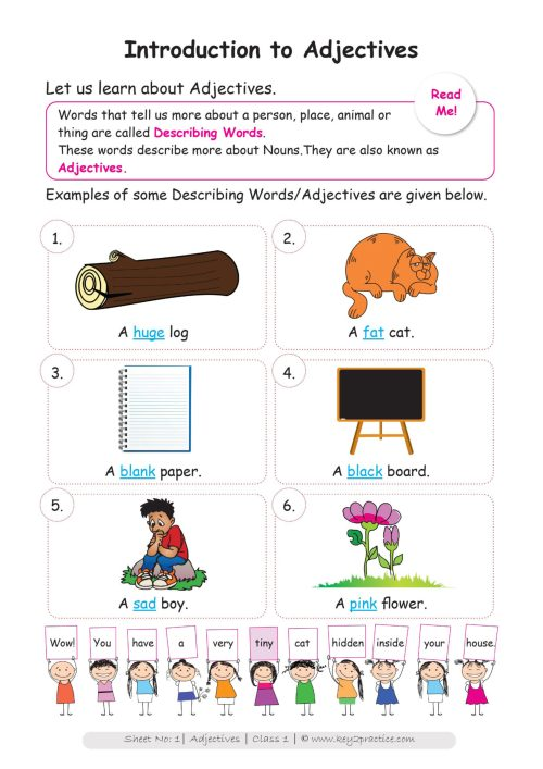small resolution of Circle Worksheet Grade 1 Adjectives   Printable Worksheets and Activities  for Teachers