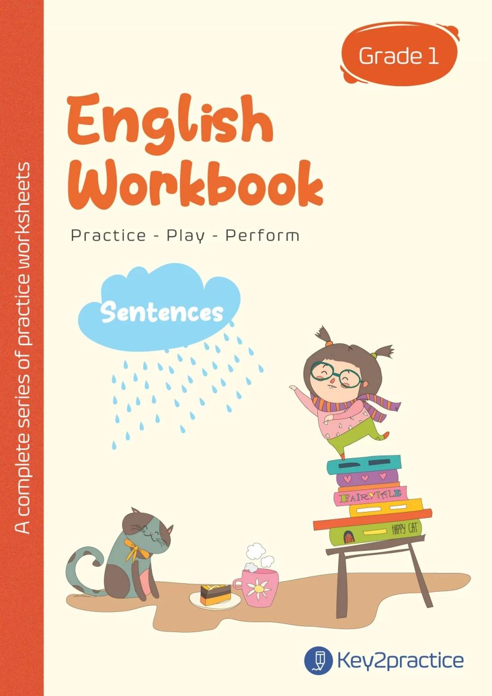 medium resolution of English Punctuation Grade 1 I Sentences - key2practice Workbooks