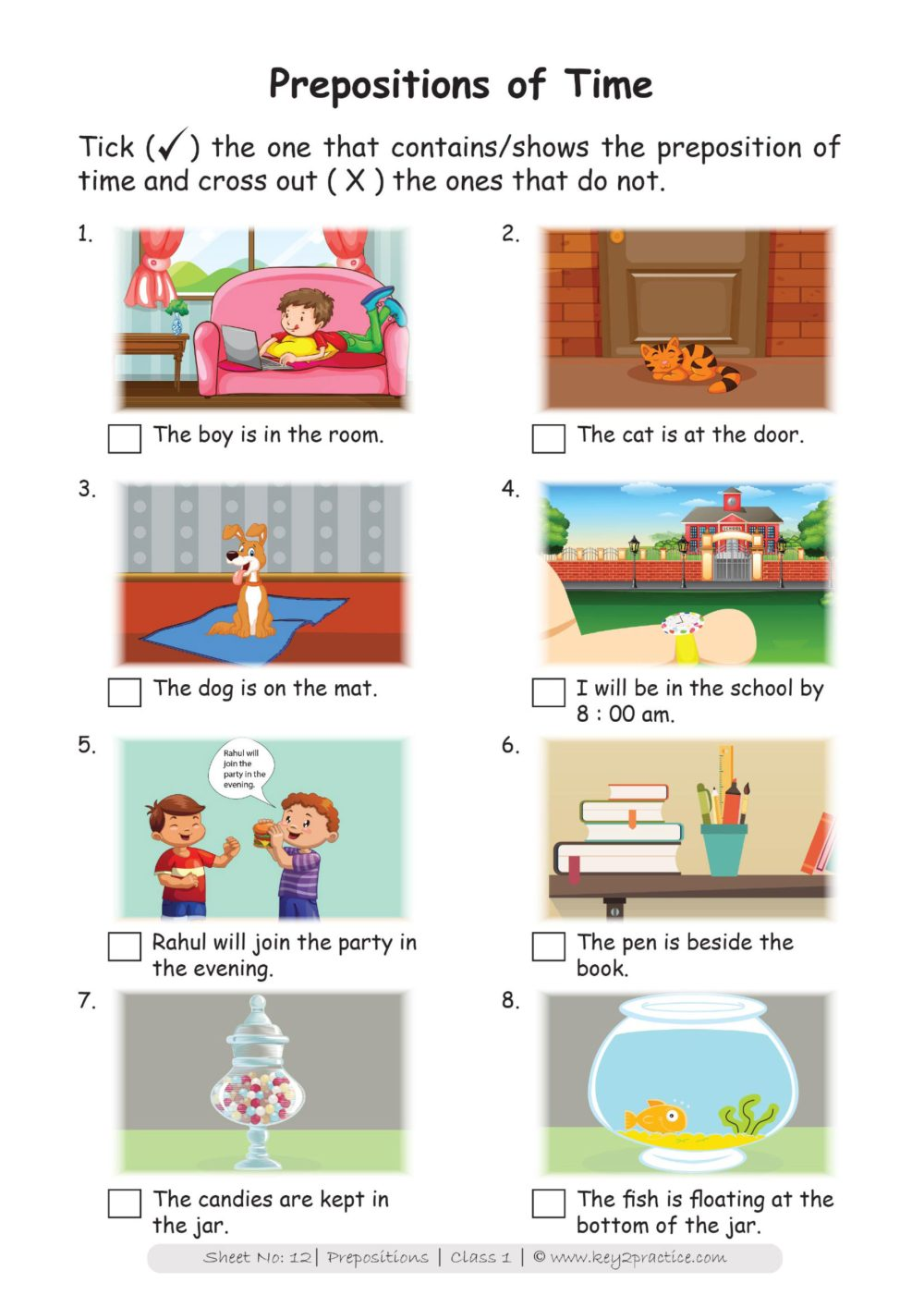 medium resolution of English Worksheets Grade 1 I Prepositions - key2practice Workbooks
