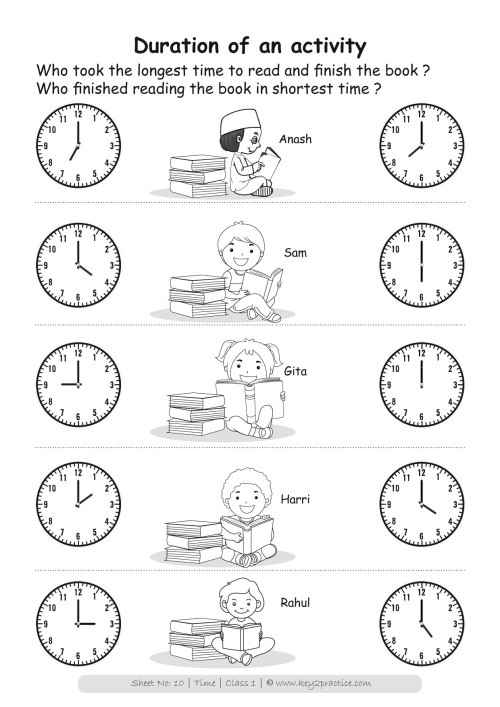 small resolution of Telling Time Worksheets Grade 1   Printable Worksheets and Activities for  Teachers
