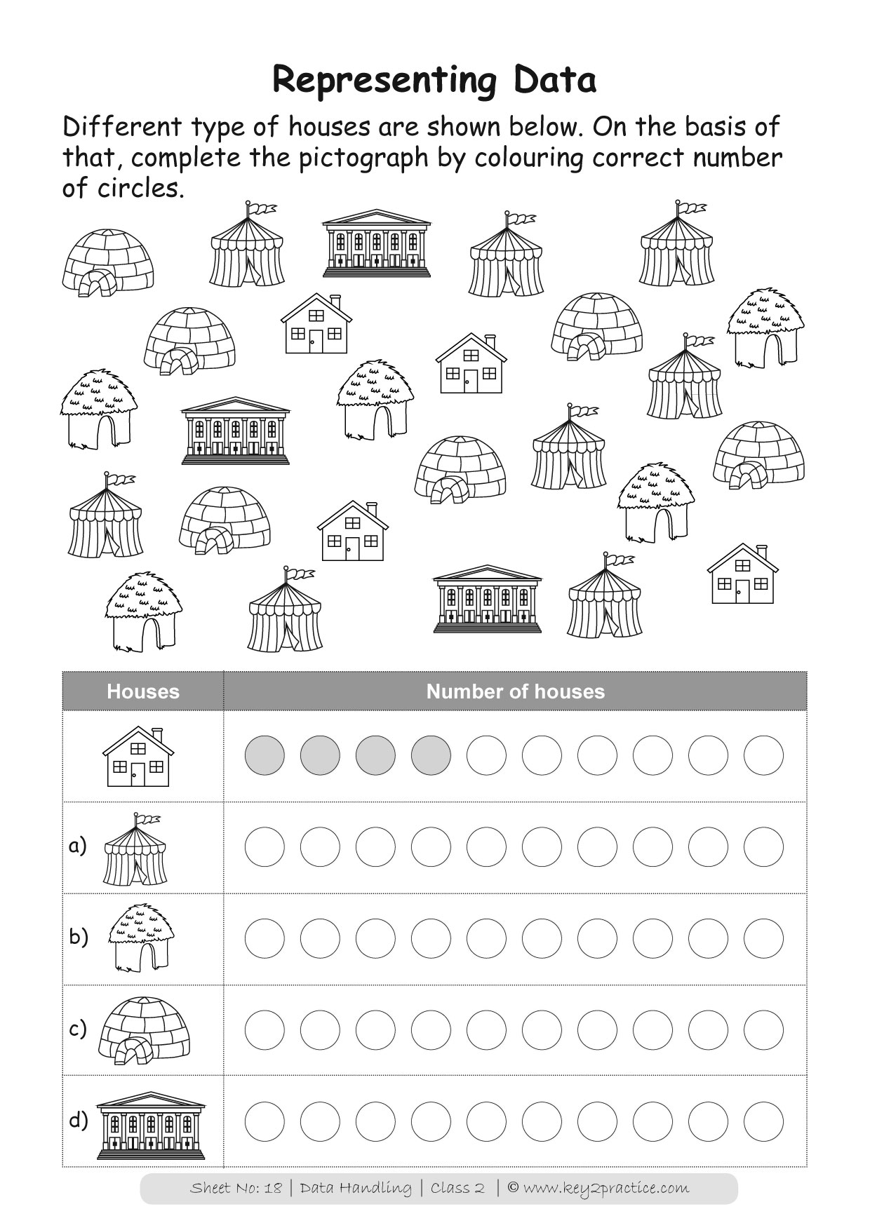 Data Handling Worksheets I Maths Grade 2