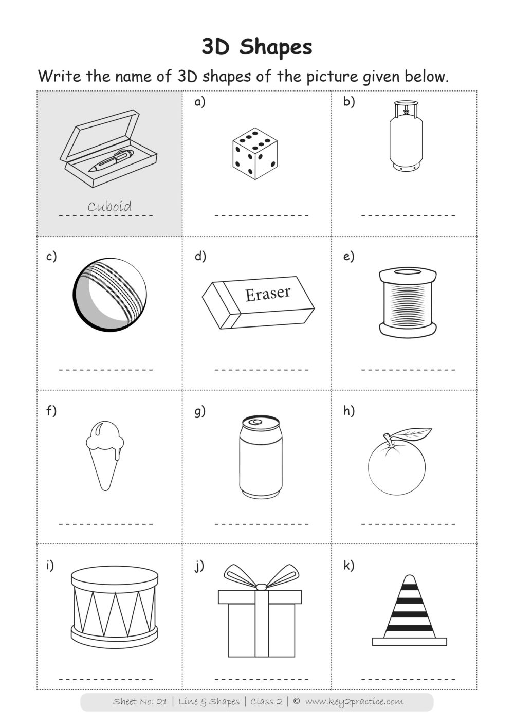 medium resolution of Maths Worksheets Grade 2 I Lines \u0026 Shapes - key2practice Workbooks