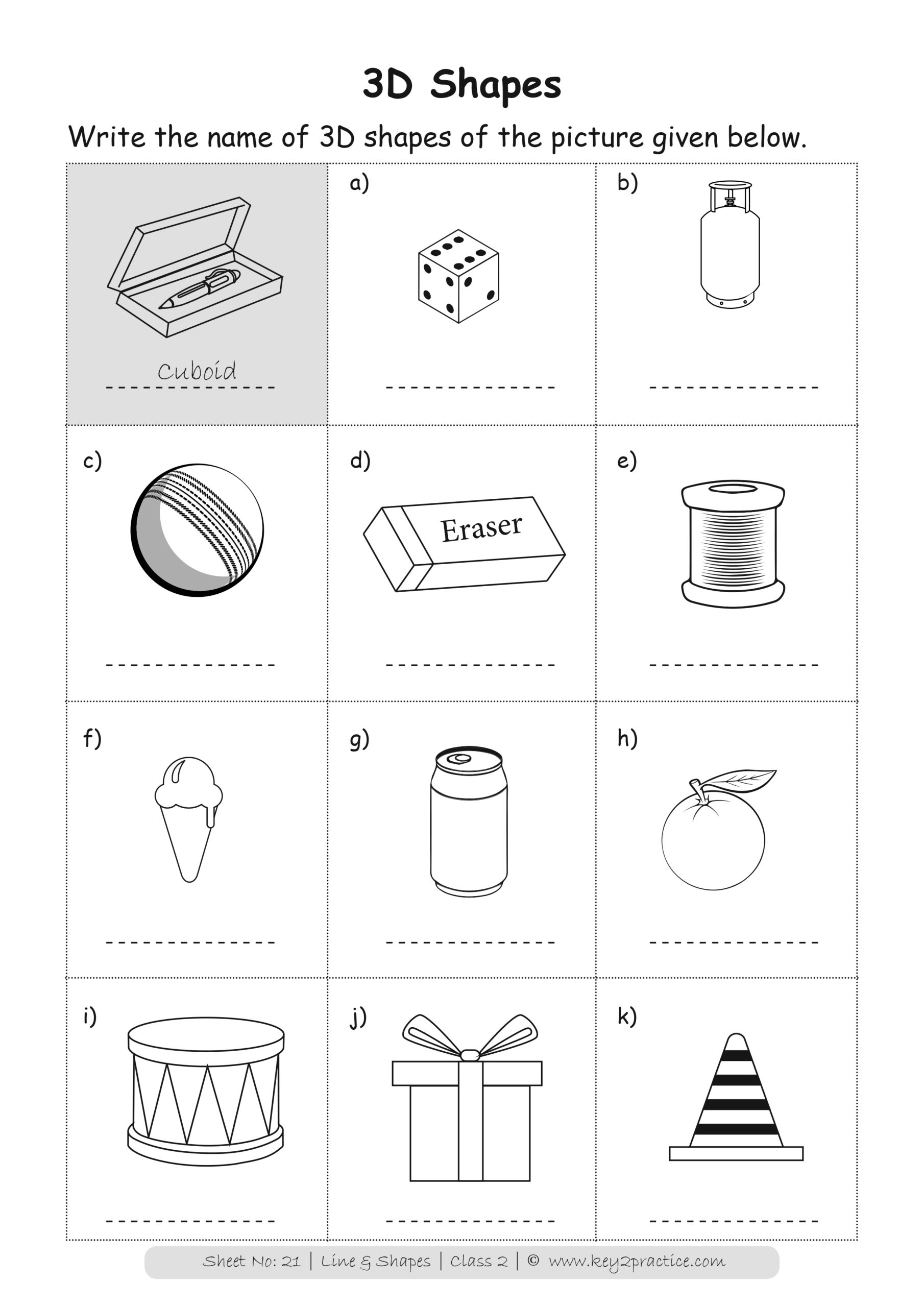 hight resolution of Maths Worksheets Grade 2 I Lines \u0026 Shapes - key2practice Workbooks