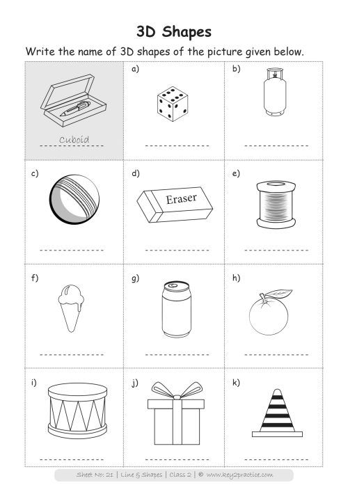 small resolution of Maths Worksheets Grade 2 I Lines \u0026 Shapes - key2practice Workbooks