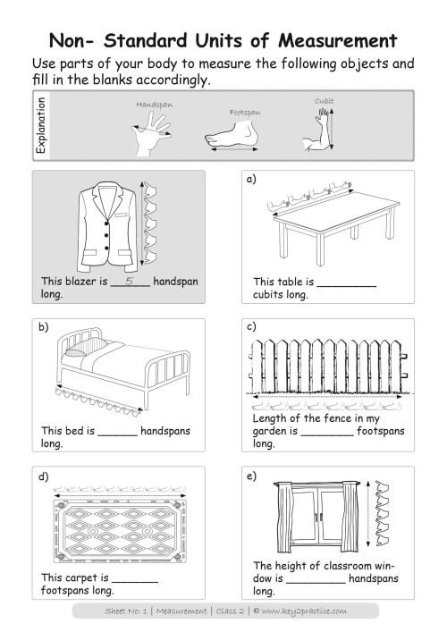 small resolution of Maths Worksheets Grade 2 I Measurements - key2practice Workbooks