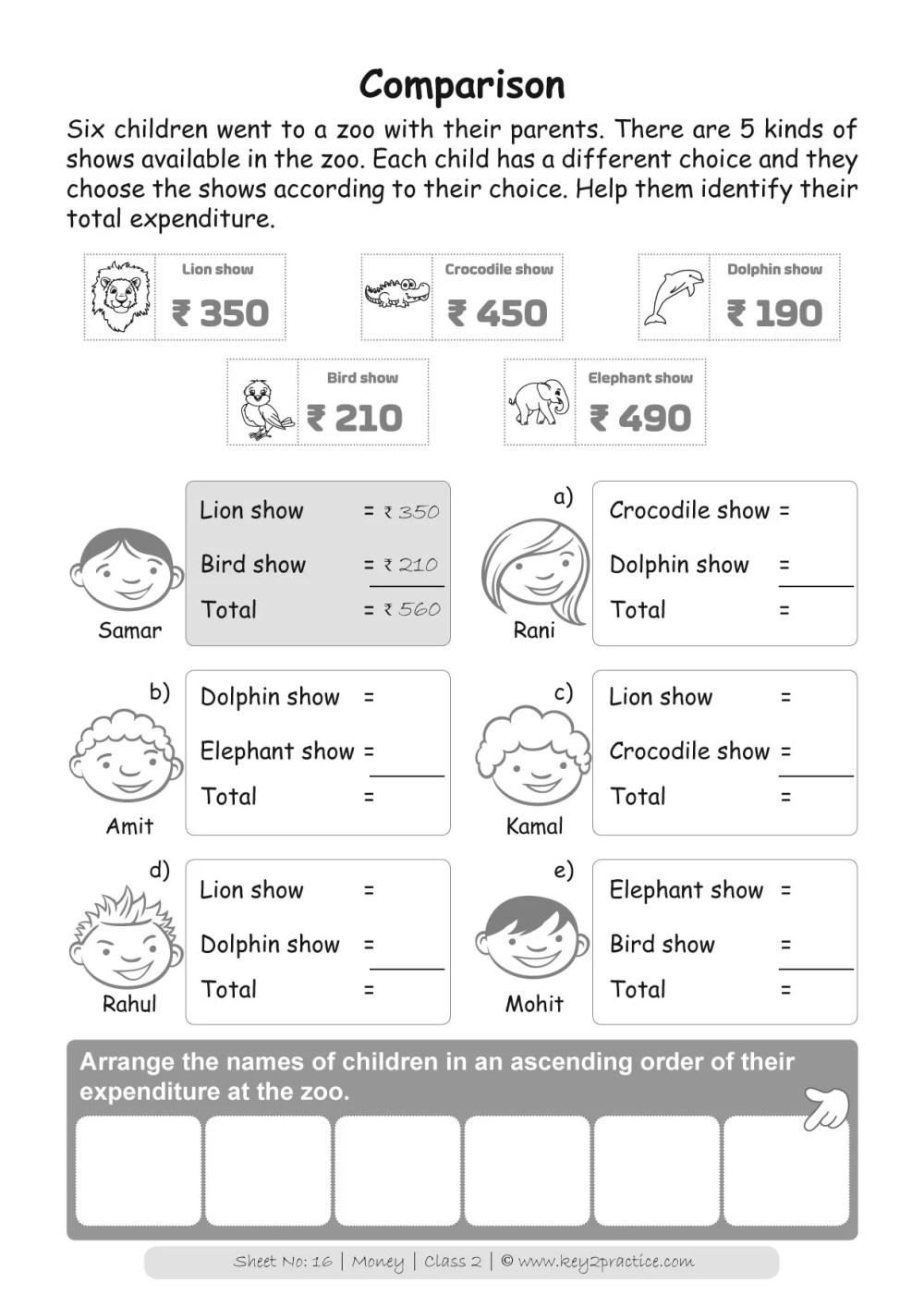 medium resolution of Money Worksheets Grade 2 I Maths - key2practice Workbooks