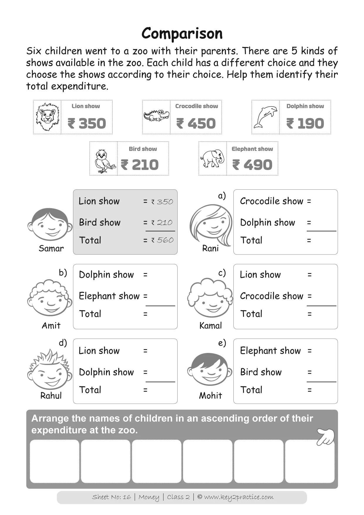 hight resolution of Money Worksheets Grade 2 I Maths - key2practice Workbooks