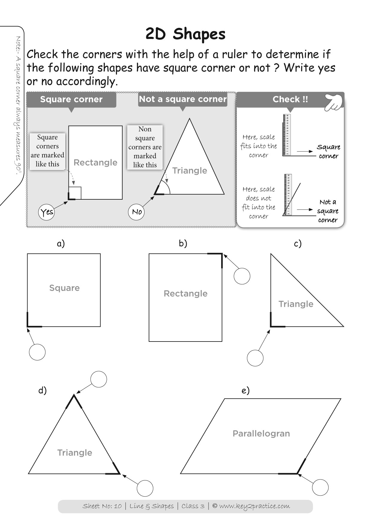 small resolution of Shapes Worksheets Grade 3 I Maths - key2practice Workbooks