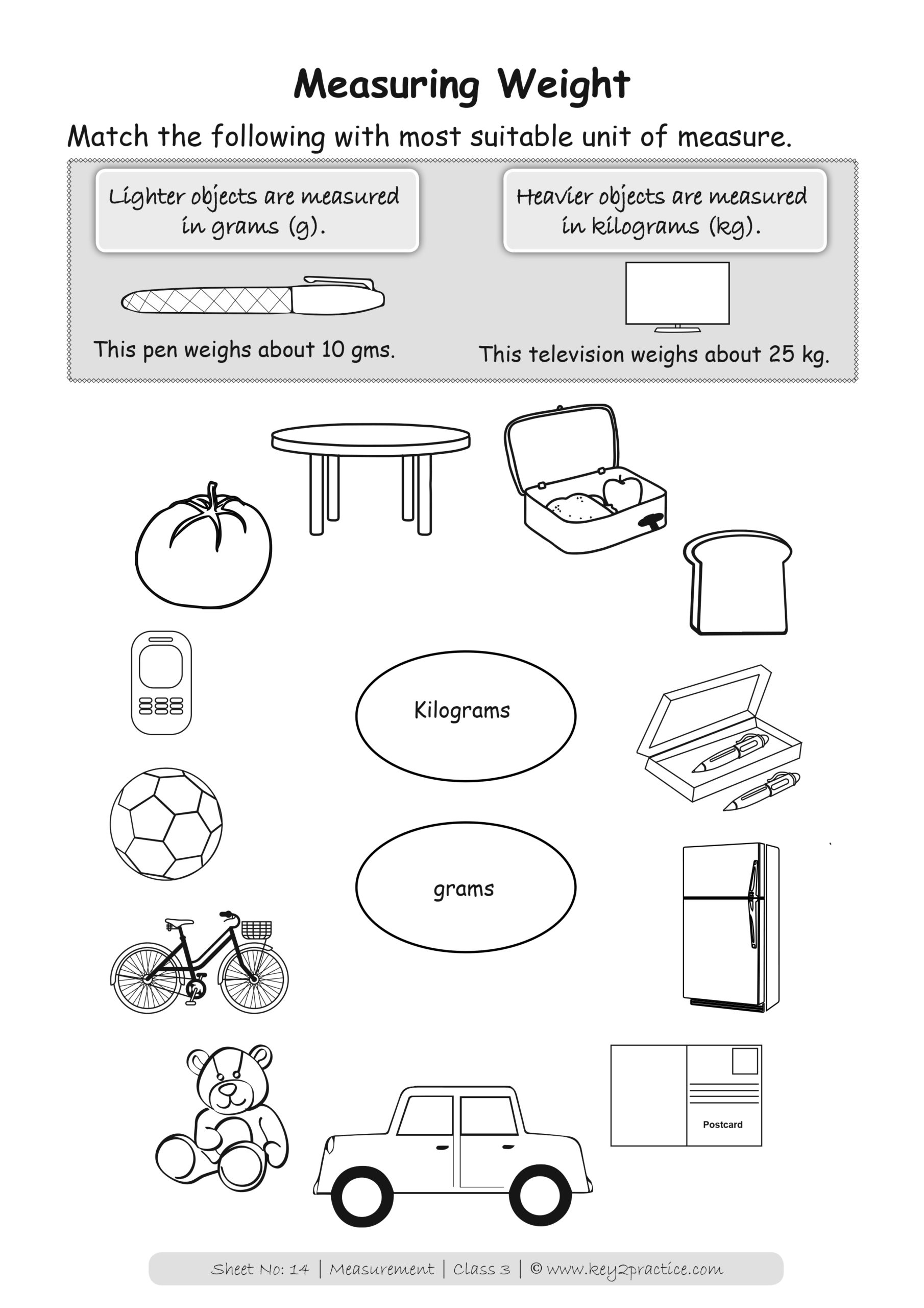 Measurements Worksheets I Maths Grade 3