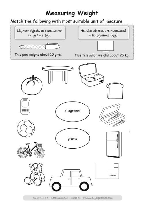 small resolution of Measurements Worksheets I Maths Grade 3 - key2practice Workbooks