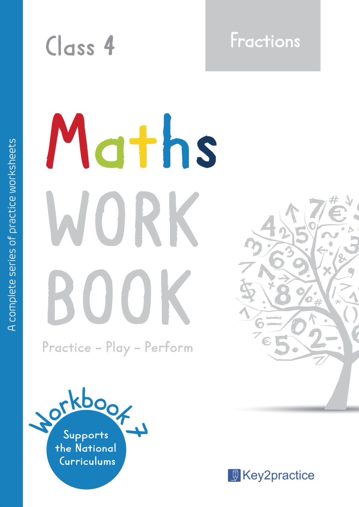 hight resolution of Grade 4 'Fractions' worksheets Maths - key2practice Workbooks