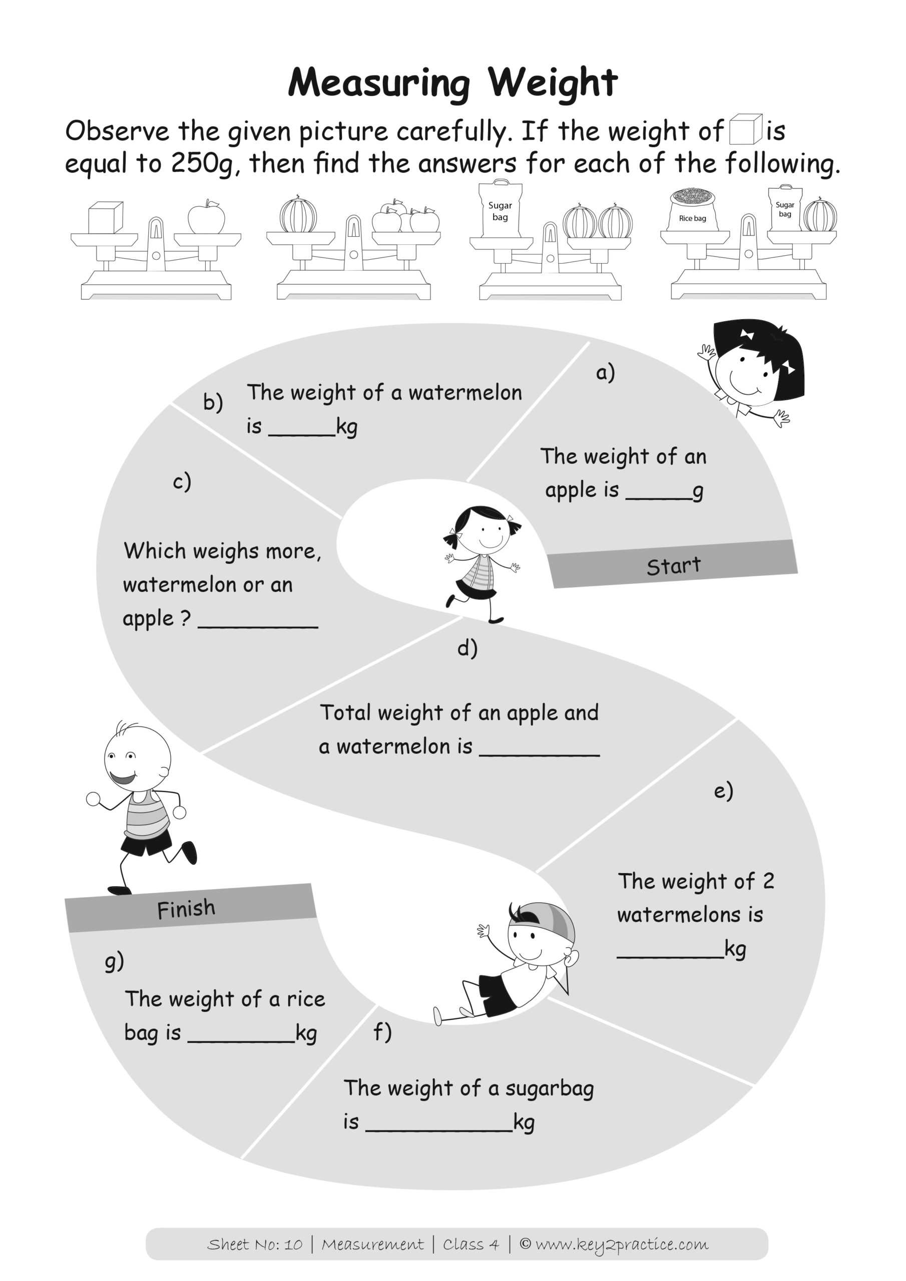 hight resolution of Math Measurement Worksheets Grade 4   Printable Worksheets and Activities  for Teachers