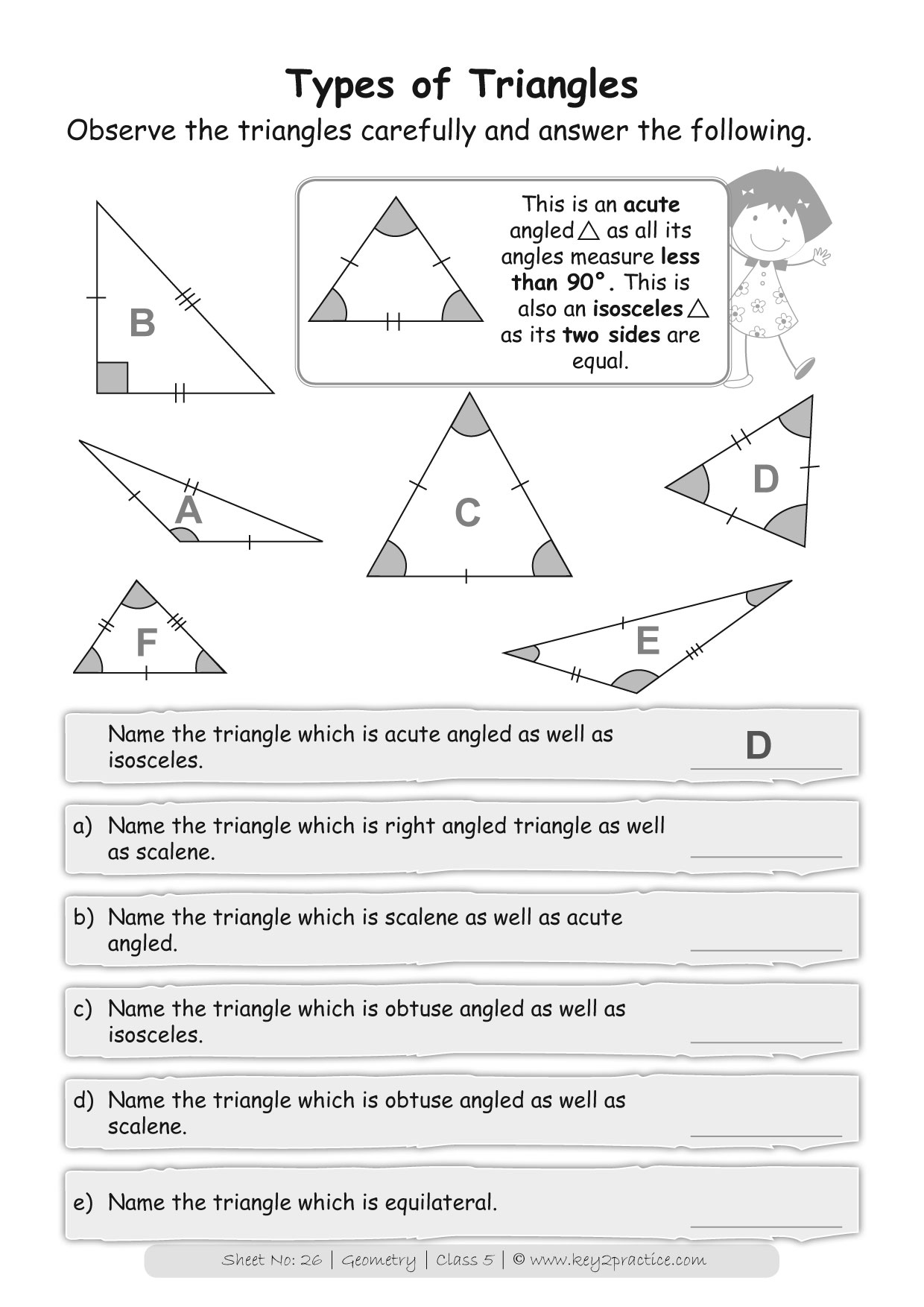 Maths Worksheets On Geometry For Grade 5